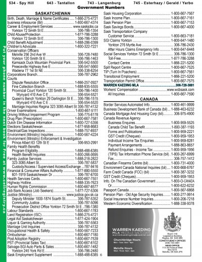 Care Printing | Esterhazy Phone Book